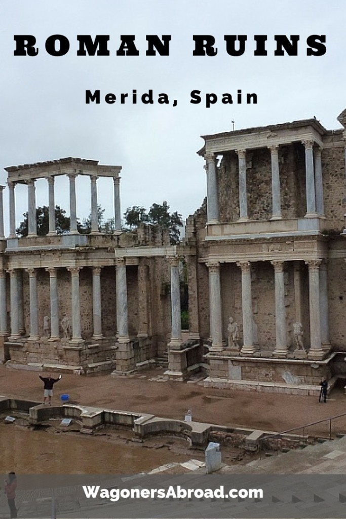 Roman Ruin in Merida Spain.  These ruins are in great condition.  Read more on WagonersAbroad.com