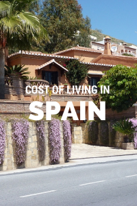 SPAIN Cost of living
