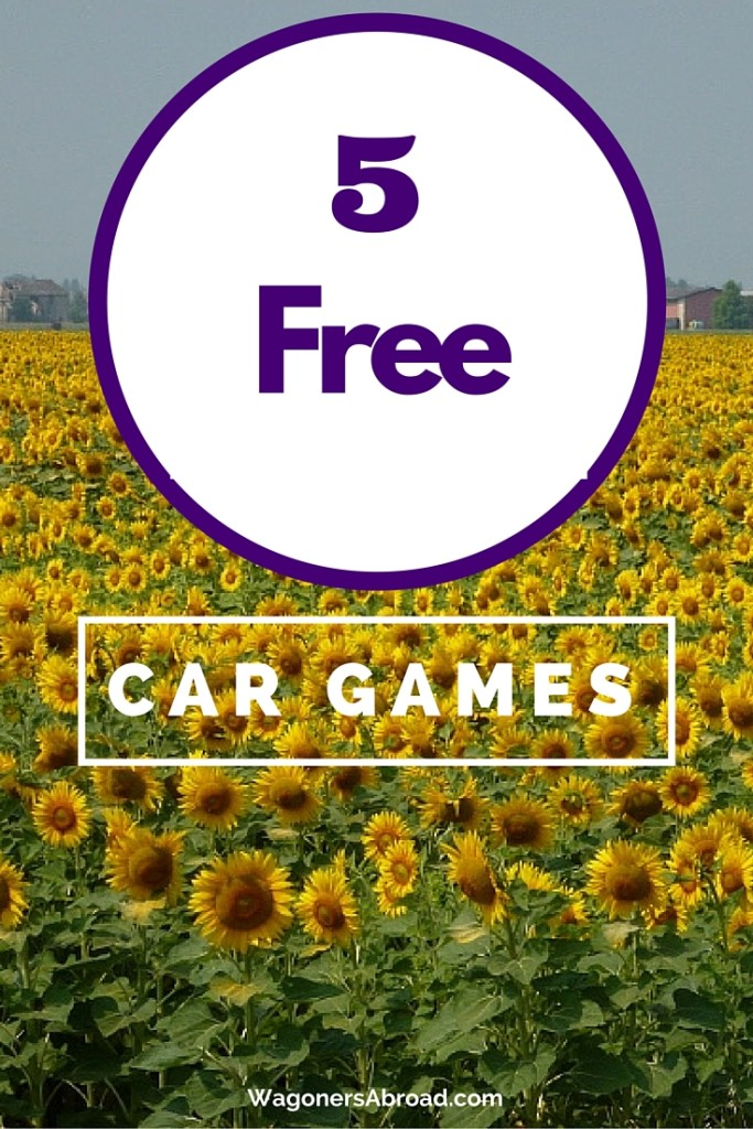 5 Free Car Games - Your kids will love these travel games for your road trip. Read more on WagonersAbroad.com