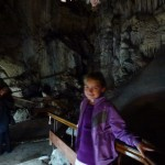 Anya enjoying the caves