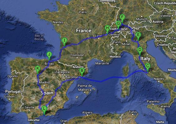Summer Road Trip Intinerary - 6 weeks in Europe