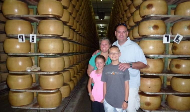 Wagoners Abroad visting Parmigiano-Reggiano