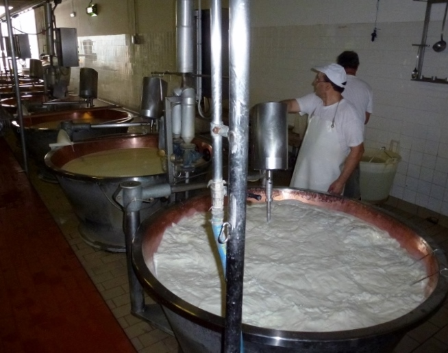Steaming the milk, but not to a boil
