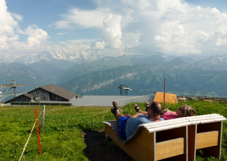 Enjoying the Swiss Alps on our Career Break