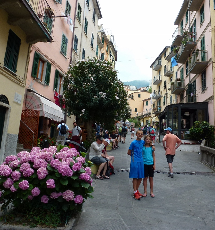 The main street of Riomaggiore