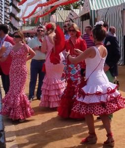 Red - Feria de Abril Seville Spain