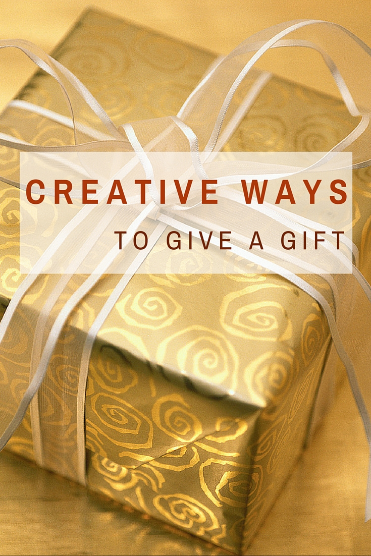 We will provide you with 8 Creative Ways To Give A Gift - No Ordinary Wrapping Allowed. These are fun and a great way to present gifts of any shape /size. Click to read more on WagonersAbroad.com
