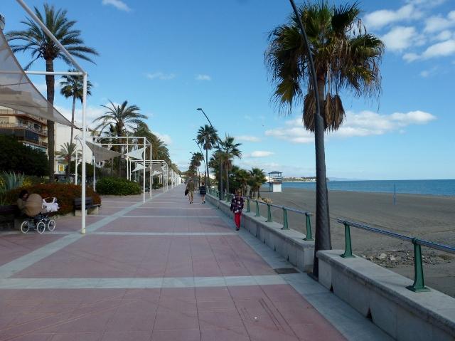 Estepona Spain - December 2013 Playa La Randa