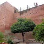 The walls of Saadian Tombs Marrakech Medina