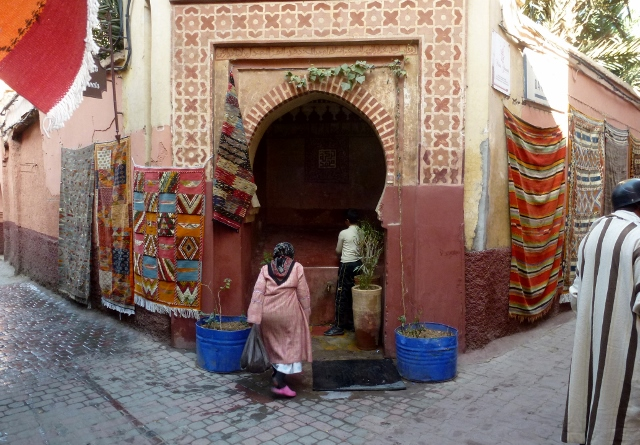 Water fountain near our Riad in Marrakech Medina