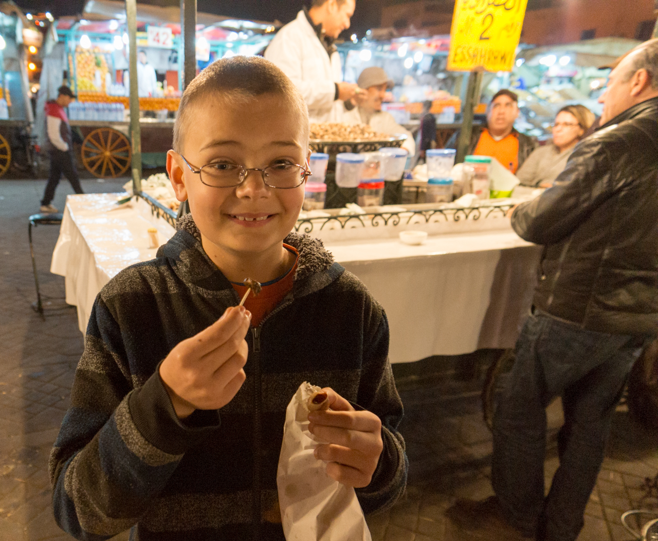 Taste of Morocco - Escargot at the night market in Marrakech