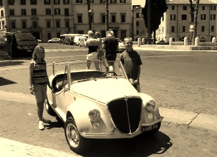 Get Married in Rome - the getaway car