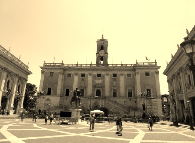 People Watching atop Capitoline Hill