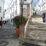 Frigiliana, Spain Main Street shared with cars and pedestrians