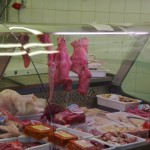 Shopping Cordoba Spain - Market Piggy faces!