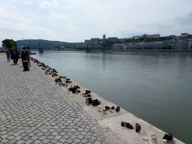 Exploring Budapest Hungary - Shoes on the Danube Promenade