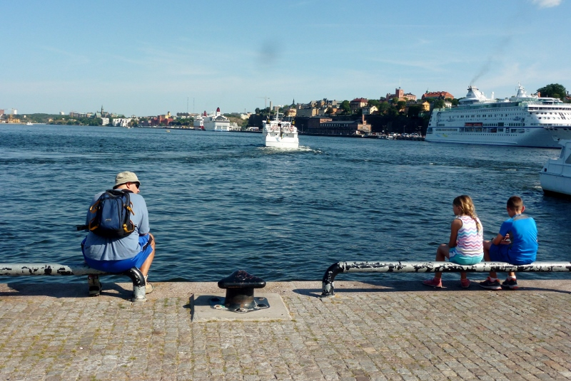 Enjoying the river Stockhom Sweden