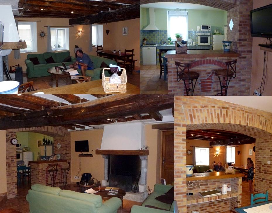 Gite La Chayotte kitchen family room