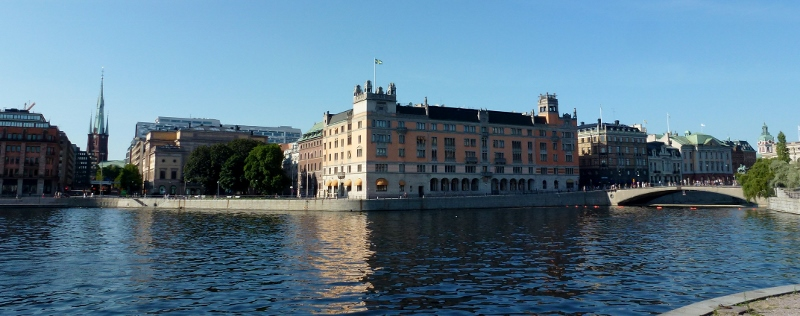 Stockholm Sweden - Old Town River and buildings