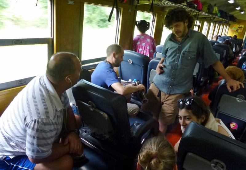 Train Bangkok to Chiang Mai Jonas, Tomas and Genoveva