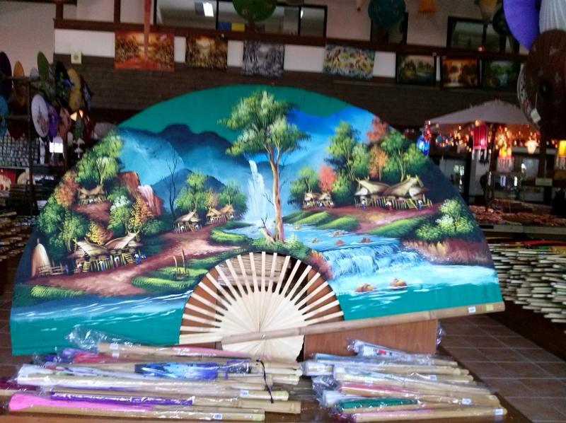 Bo Sang Umbrella Making - Saa Paper painted fan