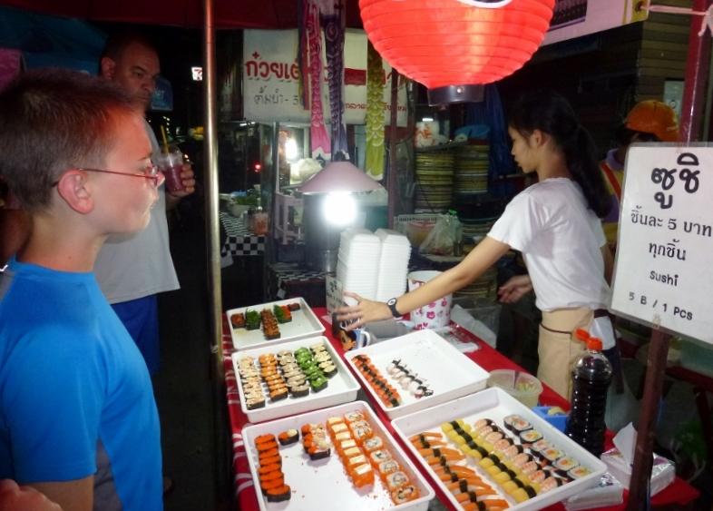 Sushi Chiang Mai Saturday Night Market