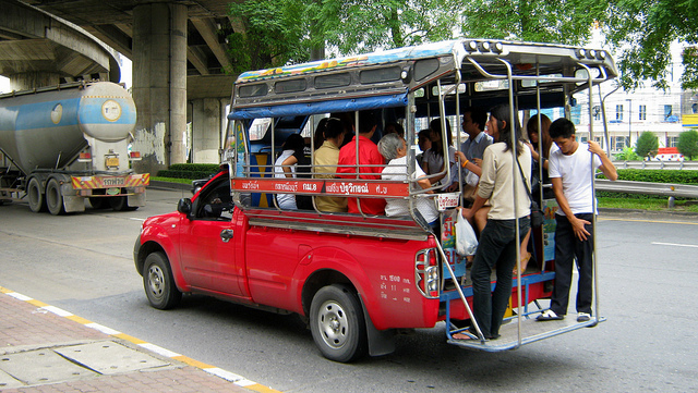 Songthaew in Thailand