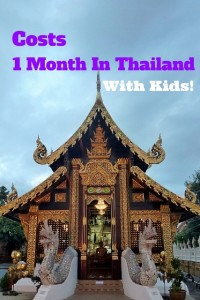 cost for one month in Thailand with kids