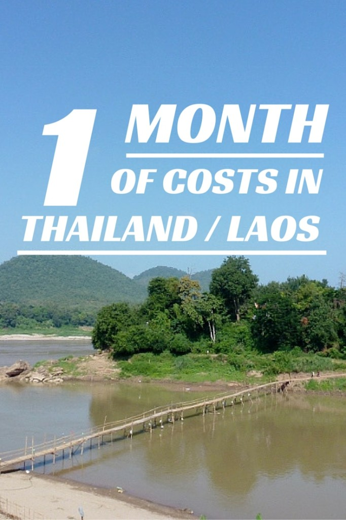 Cost of living 1 month of expenses Thailand and Laos