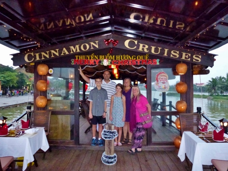 Christmas Eve 2014 Hoi An Vietnam Cinnamon Cruises