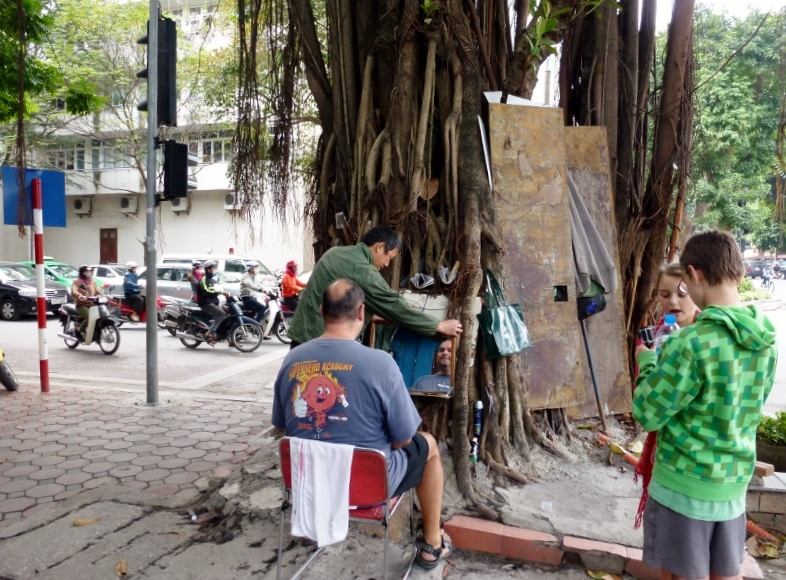 Shave Hanoi Vietnam from the guy who lives in a tree