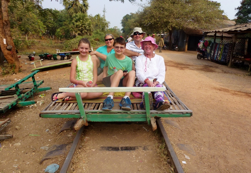 Bamboo Train Battambang Cambodia