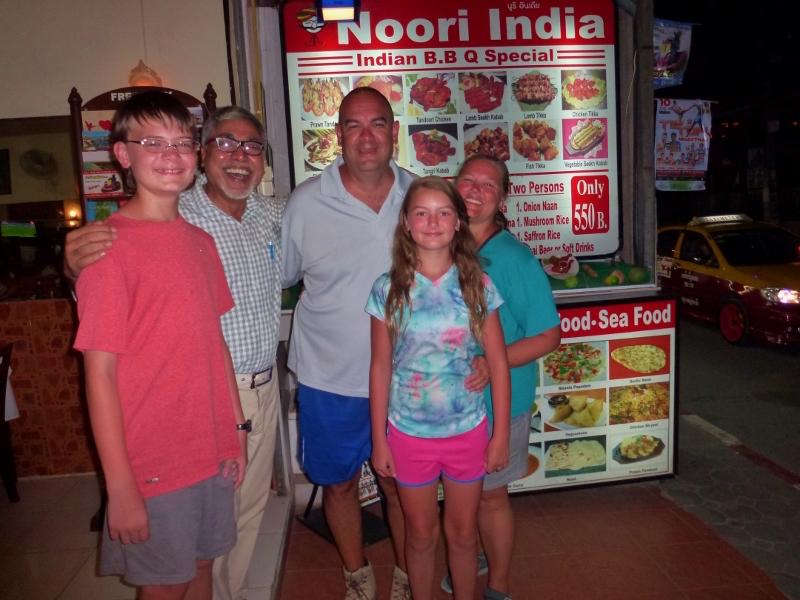 D.D. welcoming us to Noori India Chaweng Beach Koh Samuii