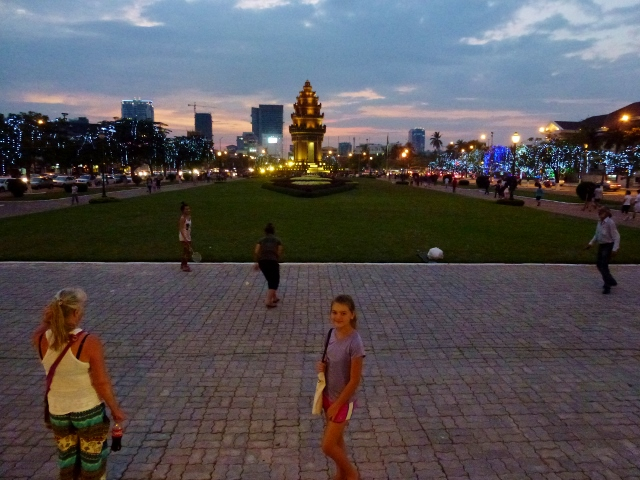 Phnom Penh at dusk