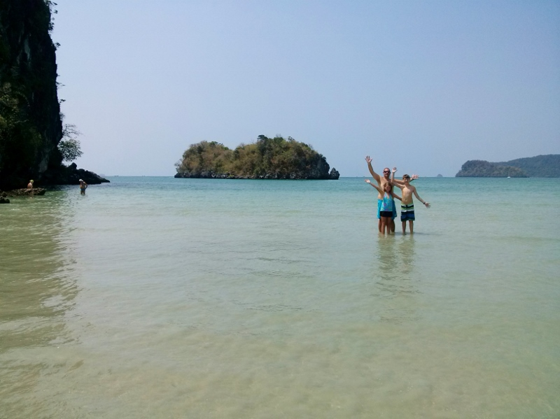 Ao Nang Beach at the end with island (4)