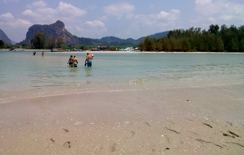 Ao Nang Beach at the end with island (5)