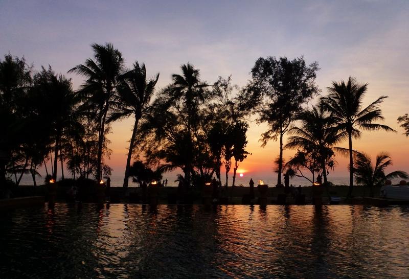 Amazing Sunsets on Phuket Thailand Mai Khao Beach Feb 2015