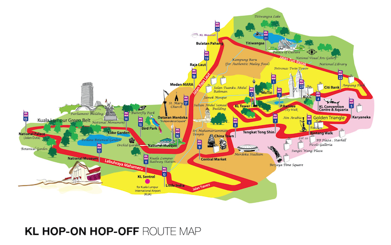 london hop on hop off bus route map