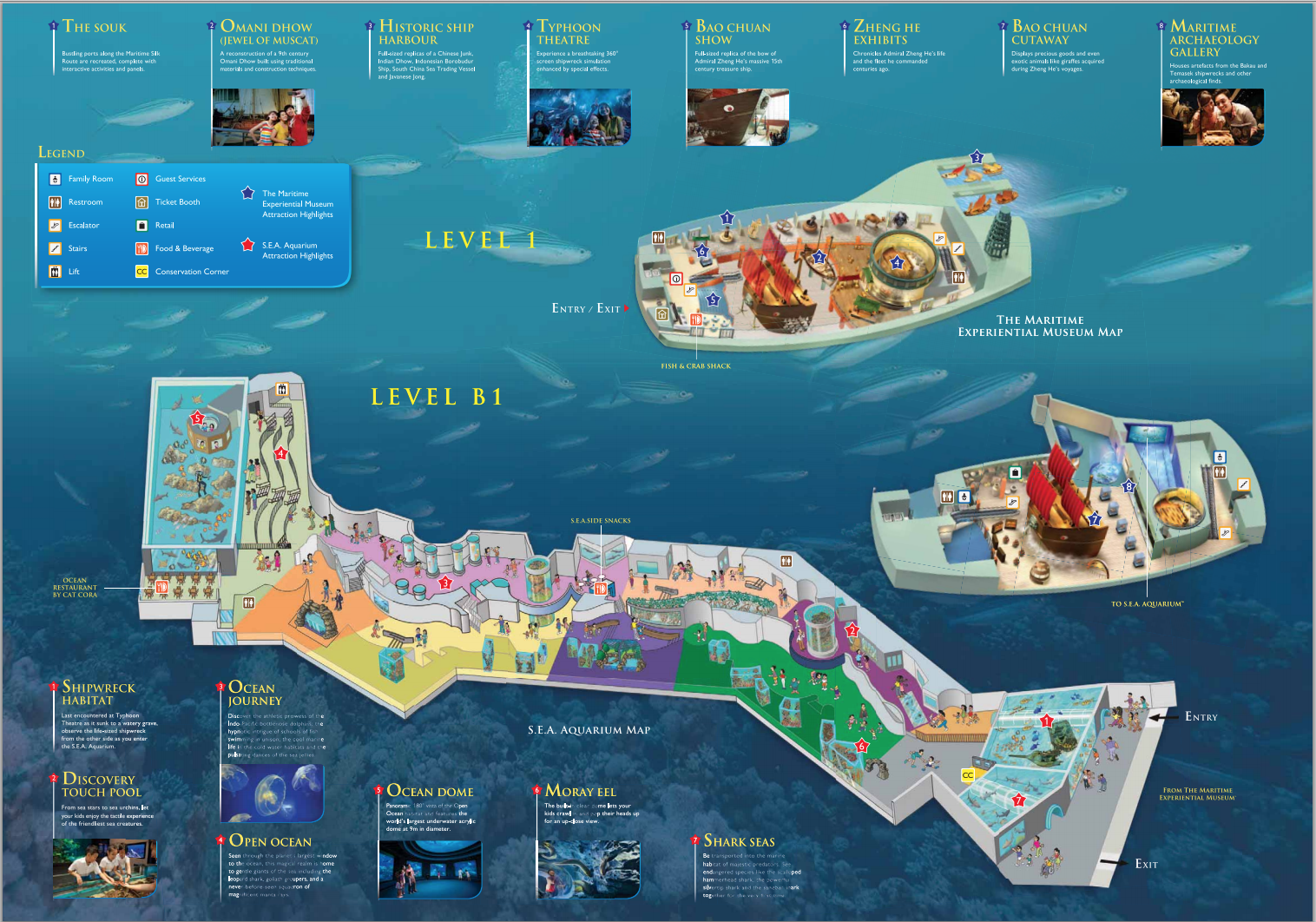 SEA-Aquarium-Map