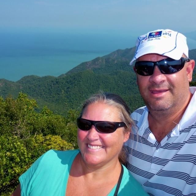 Alan and Heidi are on the Path to Pueblo Español