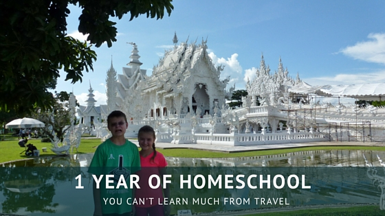 1 year of homeschool - you can't learn much from travel or can you? Read more on WagonersAbroad.com
