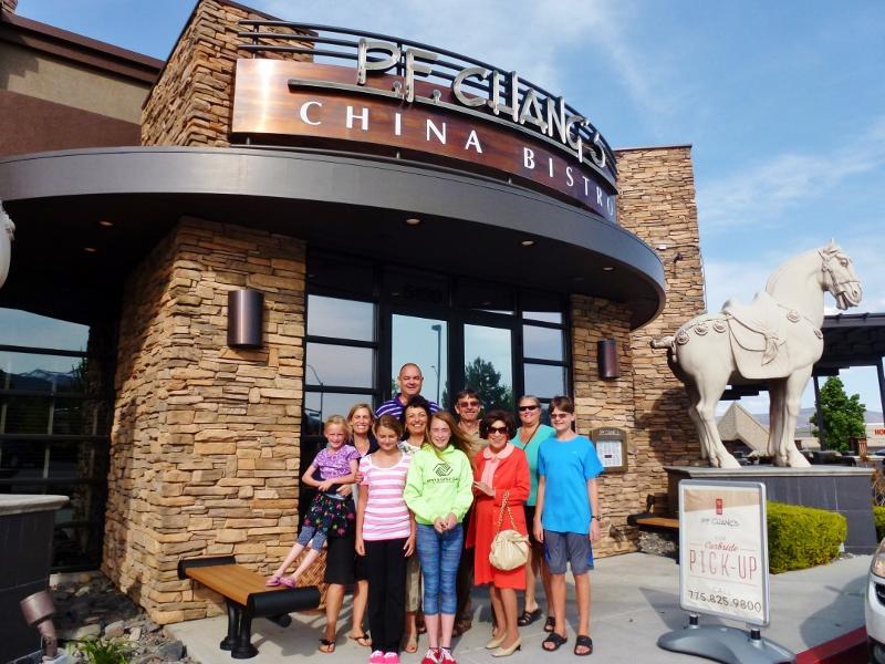 PF Changs Reno Wella and Grandma