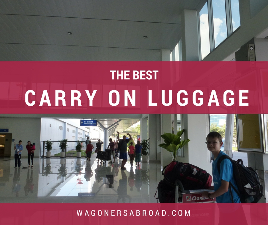 the best carry on luggage and suitcases - read more on WagonersAbroad.com