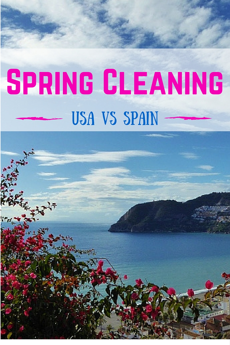 Spring Cleaning Comparison of USA vs Spain