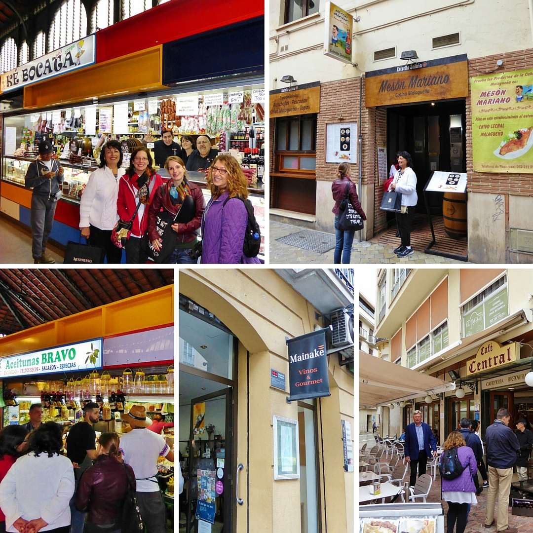 All of our food and drink stops on the Devour Malaga Food Tour