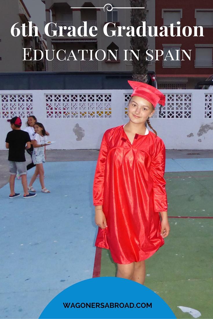 6th grade graduation - education in spain