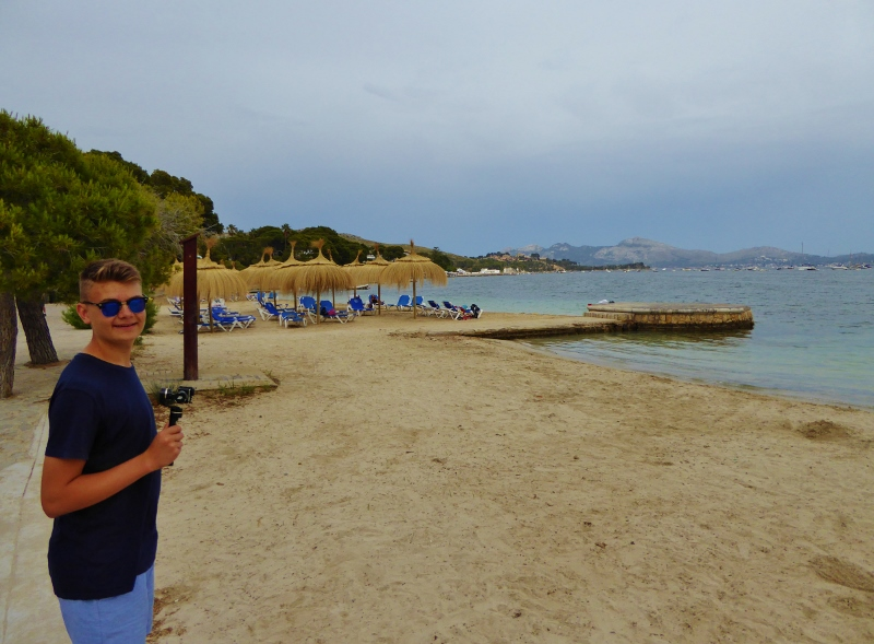 Lars at Porto de Pollensa, Mallorca