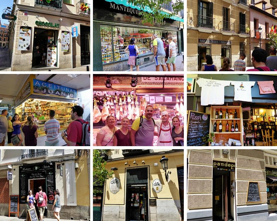 Devour Madrid Food Tour Stops