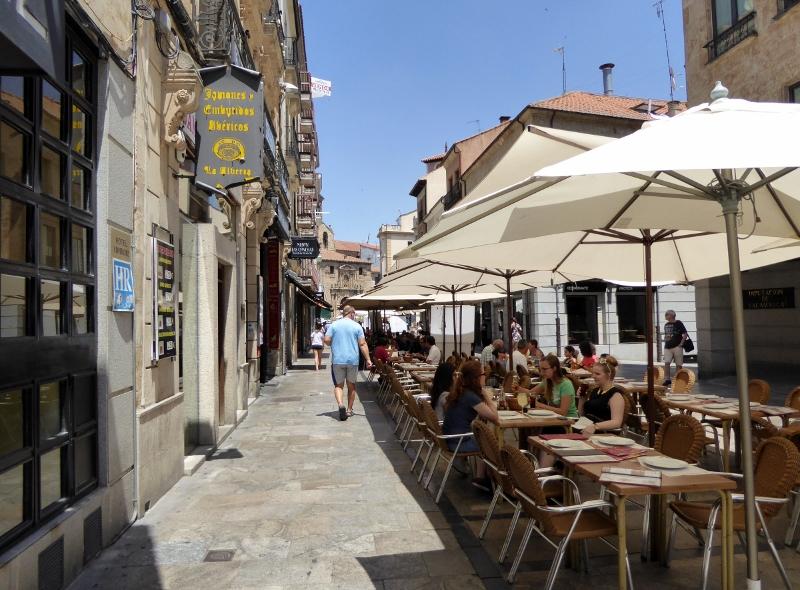 Outdoor dining Salamanca