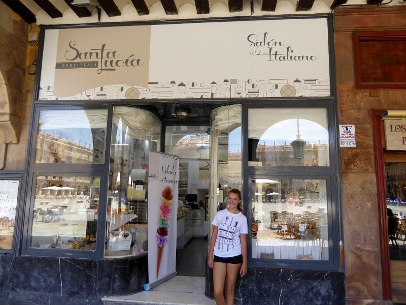 Plaza Mayor Salamanca Ice cream and pastries